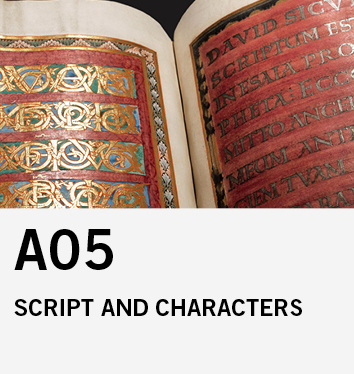 A05: Script and Characters on and in the Mediaeval Artwork